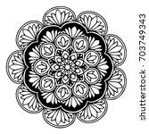 mandalas for coloring book.... | Shutterstock .eps vector #703749343