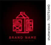 tags red chromium metallic logo