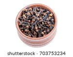 cloves. cloves is isolated on a ... | Shutterstock . vector #703753234