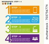 1 4 step slide timeline numbers ... | Shutterstock .eps vector #703756774