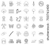 region icons set. outline style ... | Shutterstock .eps vector #703761400
