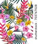 beautiful seamless vector... | Shutterstock .eps vector #703767028