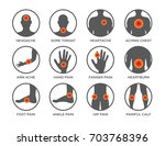 body pain icon set vector  ... | Shutterstock .eps vector #703768396
