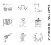 sheriff element icon set.... | Shutterstock .eps vector #703768996