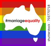 australian marriage equality. | Shutterstock .eps vector #703770718