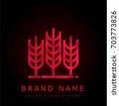 wheat red chromium metallic logo