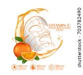 mask sheet orange fruit vitamin ... | Shutterstock .eps vector #703782490