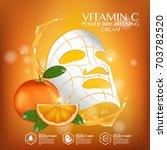 mask sheet orange fruit vitamin ... | Shutterstock .eps vector #703782520