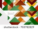 triangle pattern design... | Shutterstock .eps vector #703782829