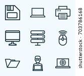 hardware outline icons set....   Shutterstock .eps vector #703786168