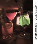 party drinks | Shutterstock . vector #703788634