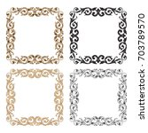 baroque vector set of vintage... | Shutterstock .eps vector #703789570