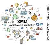social media marketing  ... | Shutterstock . vector #703794868