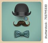 composition of gentleman...   Shutterstock .eps vector #703795330