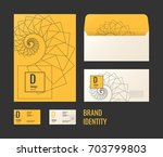 corporate identity. the layout... | Shutterstock .eps vector #703799803