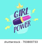 feminism slogan with hand drawn ... | Shutterstock .eps vector #703800733
