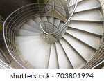 Small photo of New spiral staircase built with metal sheet with improved adherence