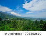 beautiful scenery on top of... | Shutterstock . vector #703803610