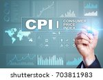 cpi. consumer price index... | Shutterstock . vector #703811983