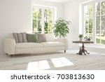 idea of white room with sofa... | Shutterstock . vector #703813630
