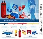 boxing  professional sport...   Shutterstock .eps vector #703814089