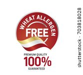 wheat food allergen free blue... | Shutterstock .eps vector #703818028