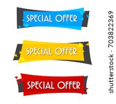 special offer sale banner for... | Shutterstock .eps vector #703822369