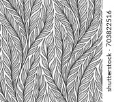 hand drawn pattern with... | Shutterstock .eps vector #703822516