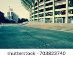 entrance of football stadium | Shutterstock . vector #703823740