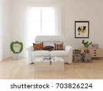 white room interior. 3d... | Shutterstock . vector #703826224