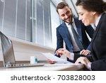 business people. | Shutterstock . vector #703828003