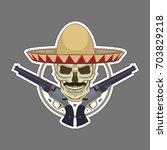 vintage logo. skull in a...   Shutterstock .eps vector #703829218