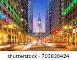 philadelphia streets with... | Shutterstock . vector #703830424