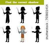 find the correct shadow ... | Shutterstock .eps vector #703831414