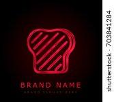 toast red chromium metallic logo