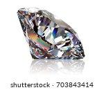 gray round brilliant cut... | Shutterstock . vector #703843414