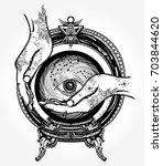 magic ball fortune teller... | Shutterstock .eps vector #703844620