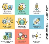 icons future technologies.... | Shutterstock .eps vector #703845094