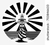 lighthouse tattoo art  symbol... | Shutterstock .eps vector #703846633