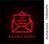 envelope red chromium metallic...