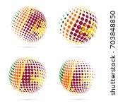 sri lanka halftone flag set...   Shutterstock .eps vector #703848850