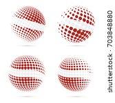 latvia halftone flag set...   Shutterstock .eps vector #703848880