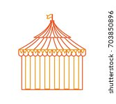 circus tent isolated icon | Shutterstock .eps vector #703850896