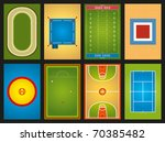 sports grounds   Shutterstock .eps vector #70385482