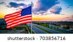 Glowing American Flag...