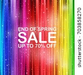 End Of Spring Sale Concept Wit...