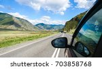 driving view from side of car...   Shutterstock . vector #703858768