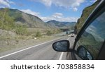 driving view from side of car...   Shutterstock . vector #703858834