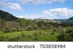 beautiful landscape with...   Shutterstock . vector #703858984