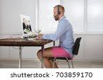 businessman dressed in shirt... | Shutterstock . vector #703859170